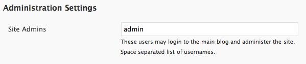 WPMU Site Administrator Permissions